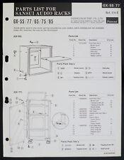 SANSUI gx-55 gx-77 gx-65 gx-75 gx-95 Original Audio Rack parts list o153