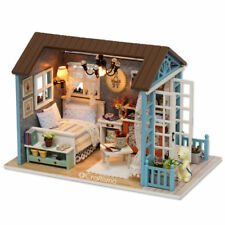 1: 24 DIY Miniature Dollhouse Kit Forest Times Shabby Chic Cottage Cabin House