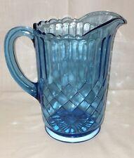 "US Glass AUNT POLLY BLUE *8"" - 48 oz PITCHER*"