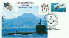 USS BREMERTON SSN-698 USN Attack Submarine Photo Cacheted Naval First Day Cover
