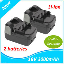 2 X 18V Li-Ion Batterie 3.0Ah pour Hitachi BSL1830 BSL1815X G 18DSL DV 18DSFL