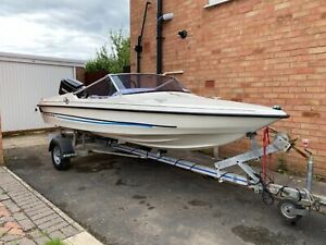 Fletcher GTO Speedboat with 60 HP Mercury Outboard - Spares or Repairs