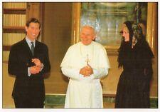 POPE JOHN PAUL II  PRINCE CHARLES & PRINCESS DIANA VATICAN LARGE WPL POSTCARD