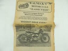 Vintage Aug/Sept 1980 Walneck's Motorcycle Classifieds Newspaper Harley L3613