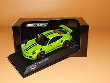 Porsche 911 GT3RS (991) 2014 in gelbgrün 410063224 von Minichamps 1/43