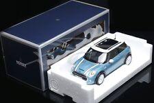 Diecast Norev Car Model Minicooper S Mini Cooper S 1:18 (Light Blue) + GIFT!!!