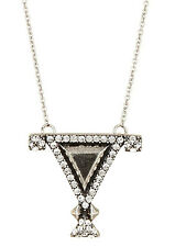 House Of Harlow 1960 Triangle Pendant Silver Tone Necklace NEW