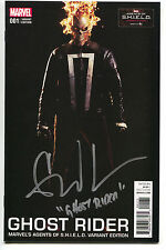 Ghost Rider 1 Marvel 2016 NM Agents Of SHIELD Photo Variant Signed Gabriel Luna