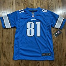 Calvin Johnson Nike On Field Detroit Lions Football Jersey, Youth Size Large NWT