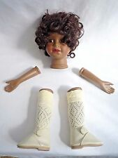 CERAMIC AFRICAN / ETHNIC DOLLS HEAD, LEGS & ARMS DOLL MAKING PARTS