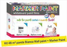 Pittura Lavagna Marker - 48 m² Trasparente (Kit completo di Fondo e finitura)