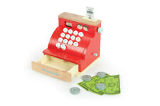 Le Toy Van Wooden Red Cash Register with Play Money