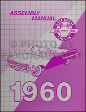 1960 Chevy Assembly Manual Impala El Camino Bel Air Biscayne Chevrolet Factory