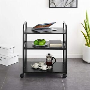 Novogratz Aubrie Bar and Serving Cart, Black