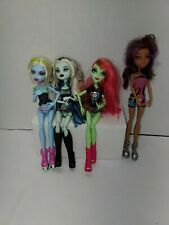 2008 Monster High Doll Lot of 4 frankie abbey Clawdeen Wolf