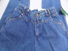 """New Vtg 90s Rockies True Western Blue Jeans """"Double Up"""" Size 26/3 Inseam 36 NOS"""