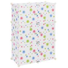 [neu.haus]® Kinder System Regal Schrank Türen 110x74cm Kleider DIY Steck Kommode