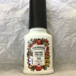 POO POURRI APPLE CIDER BEFORE YOU GO TOILET SPRAY CINNAMON, APPLE and GINGER NEW