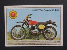 Vignette MONTESA RÉGULARITÉ 250 PANINI Super Moto n°127 Sticker Aufkleber 1975