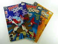 DC HAWK & DOVE (1988) #1 2 3 LOT Rob LIEFELD FN/VF (7.0) Ships FREE!