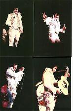 Elvis 11 Photo Set In Colorful INCA LEAF Jumpsuit 1976 & FREE CD!