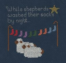 Christmas Cross Stitch Kit - While Shepherds Washed Their Socks 11 x 11 cm 14hpi
