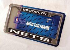 Brooklyn Nets NBA Chrome Metal Laser Cut License Plate Frame