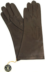 Gloves Leather Women Emperor Gloves Unlined Fashion Dark Braun 6 3/4