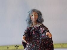 Artist Made Old Lady Hag Woman Female Doll Handmade Dollhouse Miniatures People