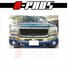 For GMC Sierra 1500 2003 2004 2005 2006 Stainless Black Wire Mesh Rivets Grille
