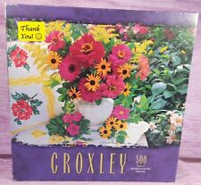 CROXLEY Summer Blossoms 500 Piece Jigsaw Puzzle Pink Flowers 2000 USA NEW SEALED