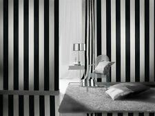 BLACK WHITE STRIPE STRIPES QUALITY DESIGNER FEATURE WALLPAPER RASCH 286694
