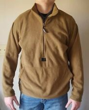 Small USMC Polartec 100 Fleece Pullover Jacket Coyote Brown (Good Cond.)