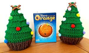 2 X Terry's Chocolate Orange/Bath Bomb Covers - Xmas Trees  - Gift/decoration