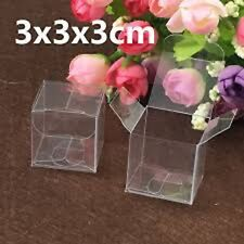 Lot of 25/50/100 pcs Clear Plastic Candy Boxes - Wedding Party Favor Gift