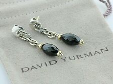 David Yurman Sterling Silver & 18K Gold Black Onyx Bijoux Figaro Dangle Earrings