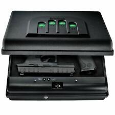 GunVault MicroVault XL Portable Large Gun Safe with Illuminated No-Eyes Digit...