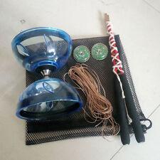 Chinese Diabolo  Yoyo Triple Bearing Diabolo String Juggling Metal Stick Toy