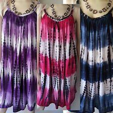 WOMENS BALI SUMMER BEACH SUN DRESS TIE DYE CASUAL SIZE L-3XL 14 16 18 20 22 24