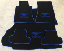 Autoteppich Fußmatten Kofferraum Set für Ford Mustang Cabrio blau ab 2015 5tlg.
