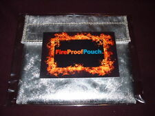"""NEW FIRE PROOF POUCH""Fire Resistant Document Bag,Safe,Money, 17"" x 12 1/2""x 1"""