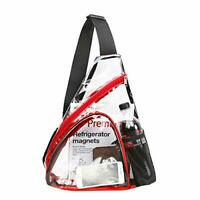 Lot of 12 Clear Sling Bags - Stadium Approved Clear Shoulder Crossbody Backpack