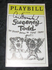 Playbill,ticket SWEENEY TODD signed by Cris Groenendaal, 1980,stars Loudon/Hearn