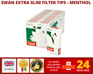 Swan Extra Slim Filter Tips - Menthol - 120 Filters/Pack (2 - 5 -10 - 20 packs)