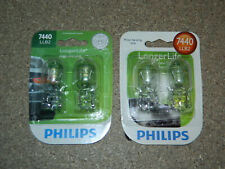 (2) NEW PACKS OF 2 PHILIPS LONGER LIFE 7440 TAIL LIGHT BULBS 7440LLB2 TURN FOG