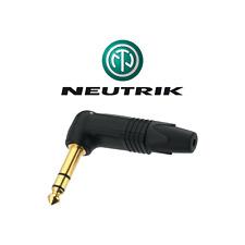 Fiche Jack 6.35 Mâle Mono Coude 90° marque Neutrik Connections À souder