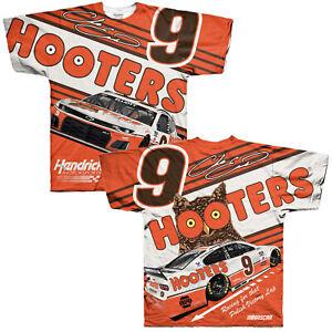 Chase Elliott 2021 #9 Hooters Car NASCAR Full Sublimated Race Shirt L XL