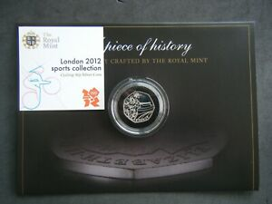 2011 Olympic Cycling 50p Fifty Pence Coin - Silver 2012 London Games with COA