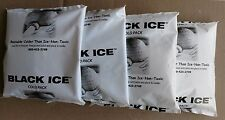 Lot of 4 Reusable Black Ice Freezer Cold Ice Pack Non-leak Non-toxic Pouch Food