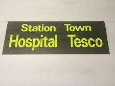 "Ashford Kent Bus Blind 33""- Station Town Hospital Tesco"